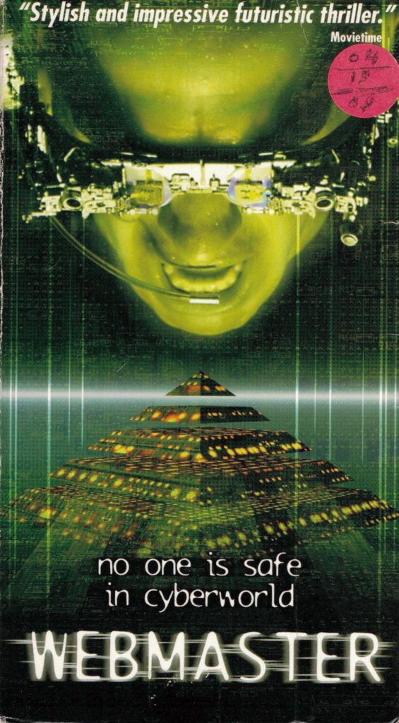 Webmaster aka Skyggen VHS cover art. Movie directed by Thomas Borch Nielsen. 1998.